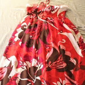 H&M Strapless Flower Summer Dress